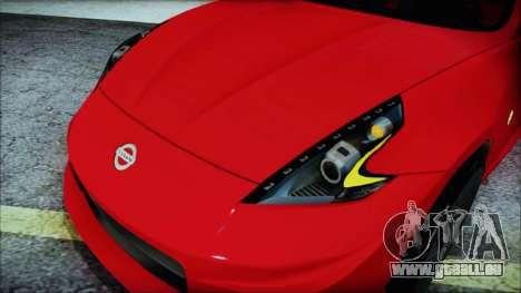 Nissan 370Z Nismo 2010 Angel Beats Itasha für GTA San Andreas Innenansicht