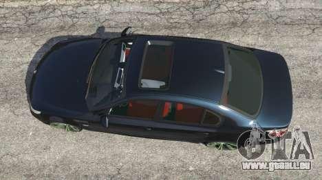 GTA 5 BMW M5 (E60) v1.1 vue arrière