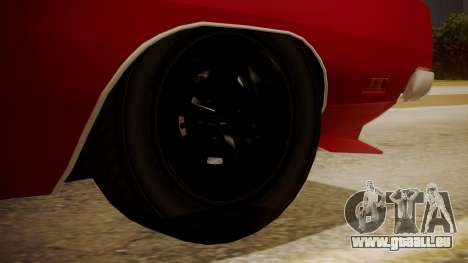 Dodge Charger O Death RT 1969 pour GTA San Andreas sur la vue arrière gauche