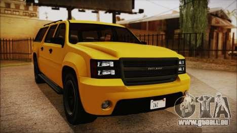 GTA 5 Declasse Granger IVF pour GTA San Andreas sur la vue arrière gauche