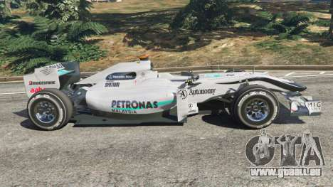 GTA 5 Mercedes-Benz MGP W01 [Michael Schumacher] v1.1 linke Seitenansicht