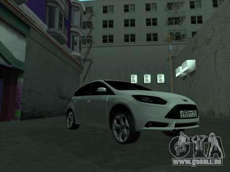 Ford Focus ST à fanons pour GTA San Andreas vue intérieure