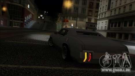 Sabre Race Edition pour GTA San Andreas vue de dessous