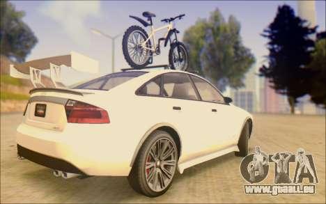 Obey Tailgater Special Tuning pour GTA San Andreas sur la vue arrière gauche
