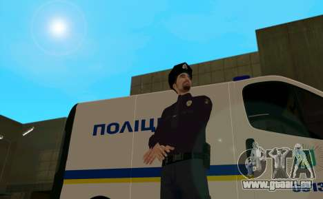La Police Nationale D'Ukraine pour GTA San Andreas deuxième écran