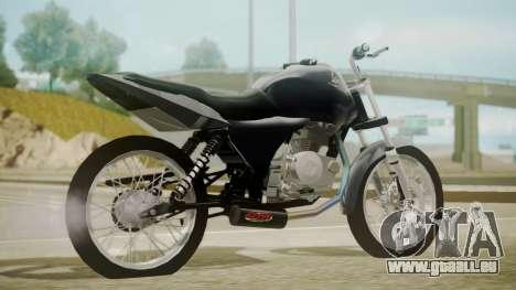 Honda Titan CG150 Stunt für GTA San Andreas linke Ansicht