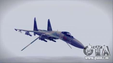 Sukhoi SU-35S East German Air Force pour GTA San Andreas vue de droite