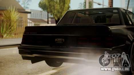 GTA 5 Faction Stock DLC LowRider pour GTA San Andreas vue de dessus