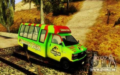 Jurassic Park Tour Bus für GTA San Andreas