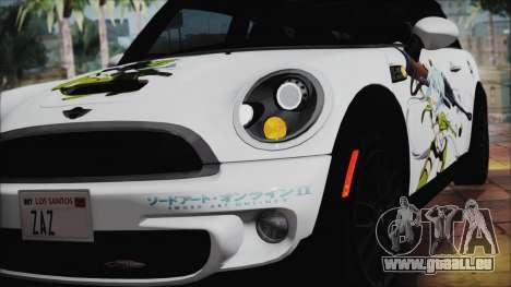 Mini Cooper Clubman 2011 Itasha pour GTA San Andreas vue arrière
