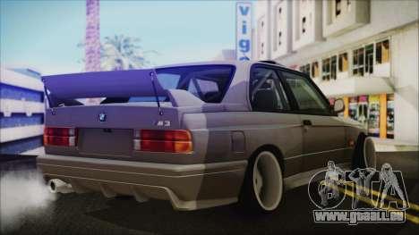 BMW M3 E30 Camber pour GTA San Andreas laissé vue