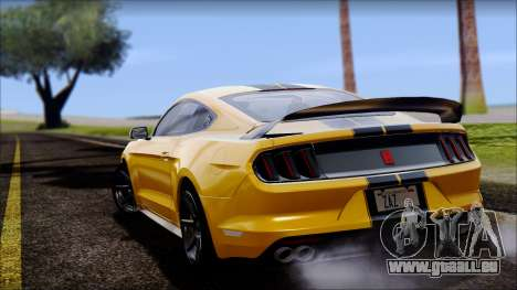 Ford Mustang Shelby GT350R 2016 pour GTA San Andreas vue de droite