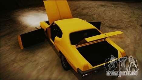 Pontiac Lemans Hardtop Coupe 1971 IVF АПП pour GTA San Andreas vue intérieure