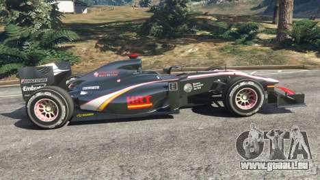 GTA 5 Hispania F110 (HRT F110) v1.1 vue latérale gauche