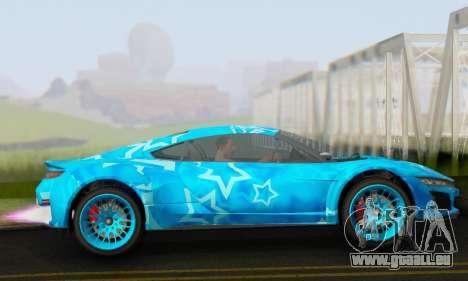 Dinka Jester (GTA V) Blue Star Edition pour GTA San Andreas laissé vue
