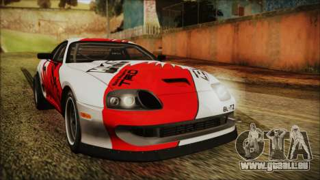 Toyota Supra JZA80 Kantai Collection Haruna PJ für GTA San Andreas linke Ansicht