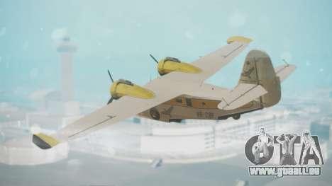 Grumman G-21 Goose WhiteYellow für GTA San Andreas linke Ansicht