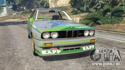 BMW M3 (E30) 1991 [Honoris] v1.2 pour GTA 5
