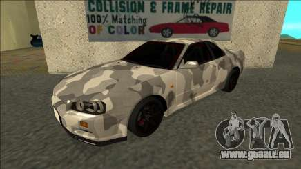 Nissan Skyline R34 Army Drift pour GTA San Andreas