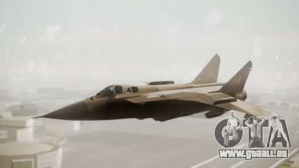 Mikoyan MiG-31 Yuktobanian Air Force pour GTA San Andreas