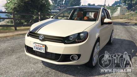 Volkswagen Golf Mk6 v2.0 [Stripes] pour GTA 5
