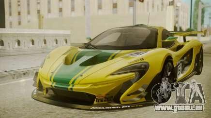 McLaren P1 GTR 2015 Yellow-Green Livery für GTA San Andreas