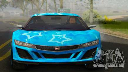 Dinka Jester (GTA V) Blue Star Edition für GTA San Andreas