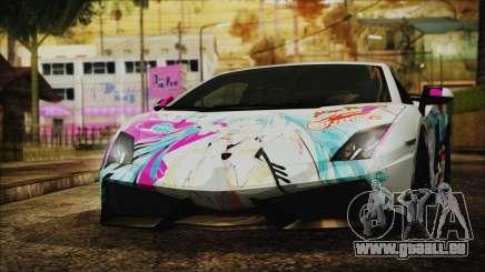 Lamborghini Gallardo LP570-4 2015 Miku Racing 4K pour GTA San Andreas