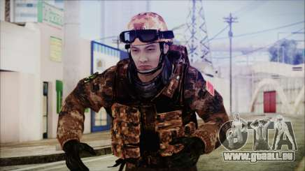 Chinese Army Desert Camo 2 pour GTA San Andreas