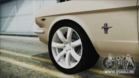 Ford Mustang Fastback 1966 Chrome Edition pour GTA San Andreas sur la vue arrière gauche
