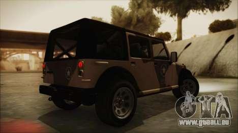 GTA 5 Canis Crusader pour GTA San Andreas laissé vue
