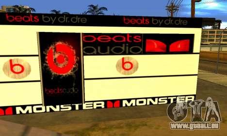 Monster Beats Studio by 7 Pack pour GTA San Andreas troisième écran