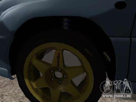 Subaru Forester 1998 pour GTA San Andreas vue intérieure