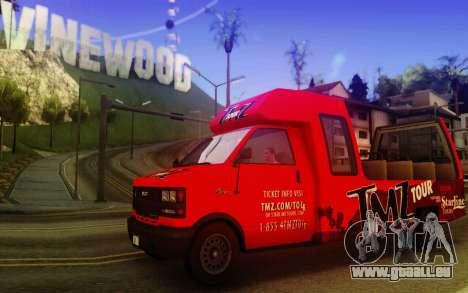 TMZ Tourbus pour GTA San Andreas laissé vue