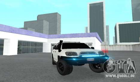 Toyota 4runner 2008 semi-off_road LED pour GTA San Andreas vue intérieure