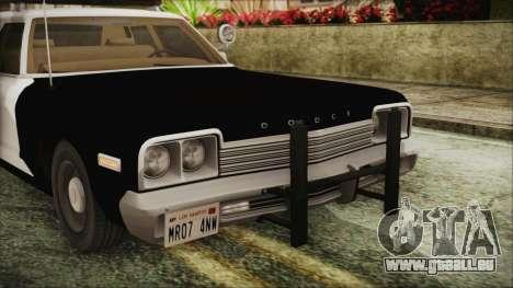 Dodge Monaco 1974 SFPD IVF pour GTA San Andreas vue arrière