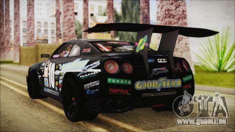 Nissan GT-R R35 Naoto für GTA San Andreas linke Ansicht