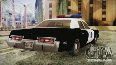 Dodge Monaco 1974 SFPD pour GTA San Andreas laissé vue