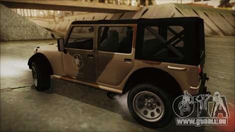 GTA 5 Canis Crusader pour GTA San Andreas sur la vue arrière gauche