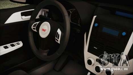 Subaru Impreza Police für GTA San Andreas rechten Ansicht