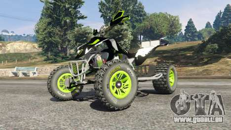 GTA 5 Yamaha YZF 450 ATV Monster Energy droite vue latérale