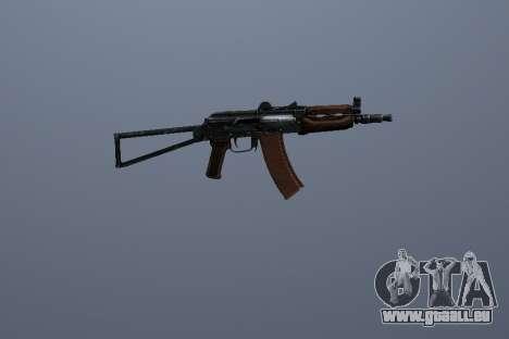 AK-74U pour GTA San Andreas deuxième écran