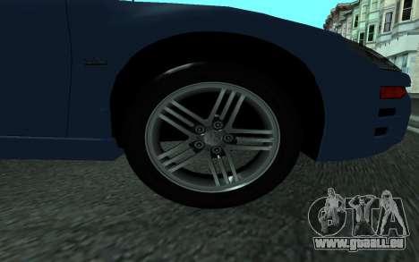 Mitsubishi Eclipse GTS Tunable pour GTA San Andreas sur la vue arrière gauche