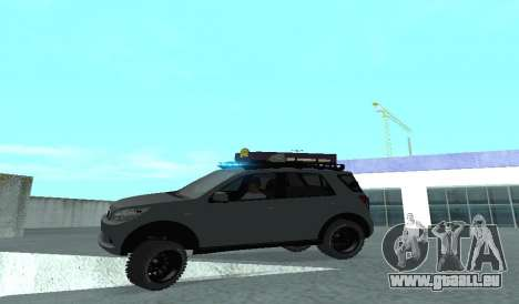 Toyota Terios 2009 OFF-ROAD MUD-TERRAIN pour GTA San Andreas vue de dessus