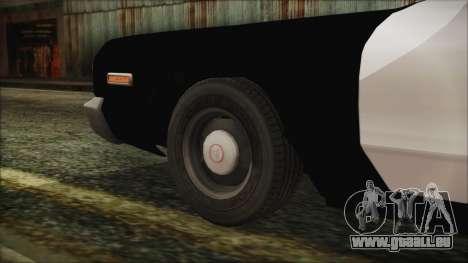 Dodge Monaco 1974 LVPD pour GTA San Andreas sur la vue arrière gauche