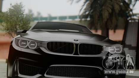 BMW M3 F30 SEDAN für GTA San Andreas Rückansicht