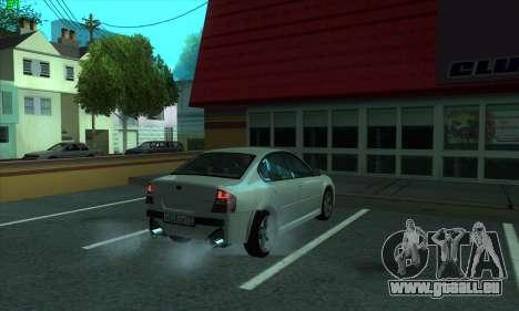 Subaru Legacy pour GTA San Andreas vue arrière