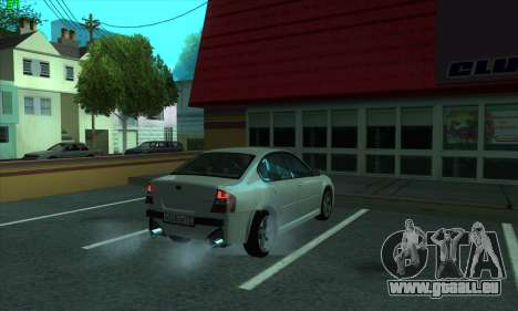 Subaru Legacy für GTA San Andreas Rückansicht