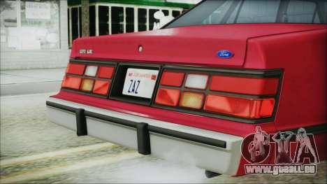 Ford LTD LX 1986 pour GTA San Andreas vue arrière