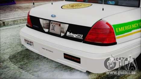Ford Crown Victoria Miami Dade v2.0 für GTA San Andreas Rückansicht